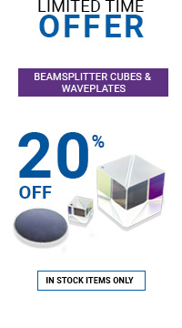 Beamsplitter Cubes & Waveplates Promotion